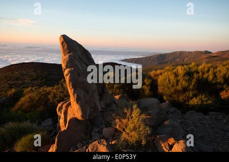Blick über Valle De La Orotava aus Sicht Tf-24, Teneriffa Kanarische - Stockfoto
