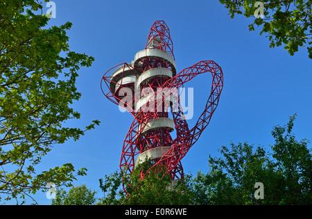 ArcelorMittal Orbit, Queen Elizabeth Olympic Park, London E20, Vereinigtes Königreich - Stockfoto