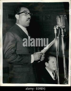 12. Dezember 1958 - Afro-Asiatische Solidarität Woche Feier an der Universität Kairo. Guizeh: Die feierliche Eröffnung - Stockfoto