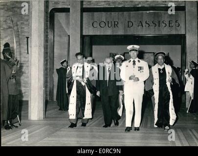 12. Dezember 1958 - eröffnet neue Justizpalast in Dakar: das neue Gebäude Houseing Dakar Law Courts wurden im Senegal - Stockfoto
