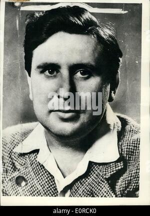 1. Januar 1959 - Donald Hume von Zürich Polizei gehalten... Bank-Raid-Verhaftung. Donald Hume - Scotland Yard zu - Stockfoto