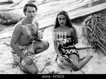 HURRIKAN (1937) DOROTHY LAMOUR, JON HALL, JOHN FORD (DIR) HURR 004 MOVIESTORE SAMMLUNG LTD - Stockfoto