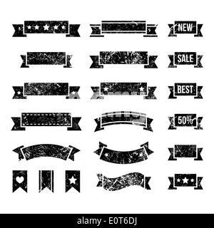 Retro-Bänder, Vintage Lesezeichen Set - Vektor - Stockfoto