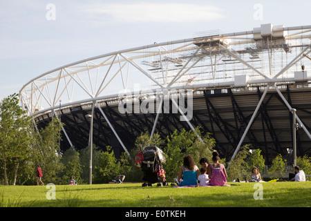 Die Queen Elizabeth Olympic Park - Stratford - London - Stockfoto