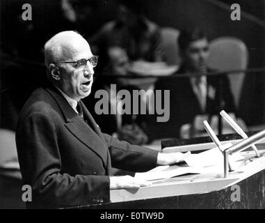 Fouad Ammoun hält Rede bei Vereinten Nationen - Stockfoto