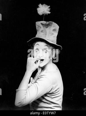 Marcel Marceau während einer Aufführung - Stockfoto