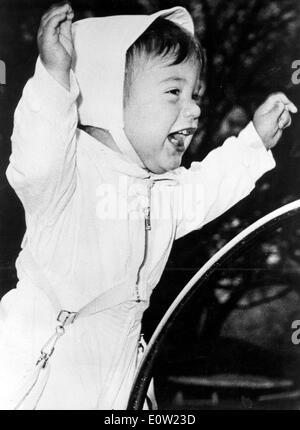 John als baby - Stockfoto