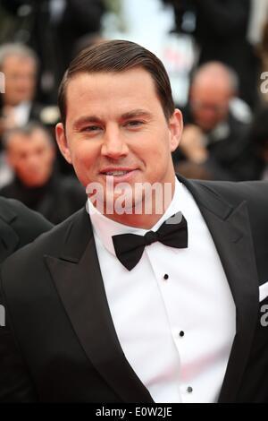 """Schauspieler Channing Tatum besucht die Premiere von """"Foxcatcher"""" während der 67. Internationalen Filmfestspiele - Stockfoto"""