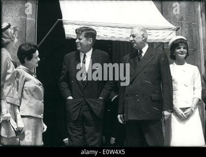 5. Mai 1961 - hier sind Madame de Gaulle, General de Gaulle, Präsident John F. Kennedy und Jacqueline Kennedy. Französisch - Stockfoto