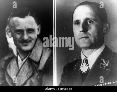 Heinrich Muller in bürgerliche Kleidung und uniform - Stockfoto