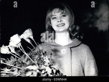 1. Januar 1964 - Mandy, oh Mandy... Ihr seid gekommen. Vielen Dank. Jetzt die Fotografen schlafen können und niemand - Stockfoto