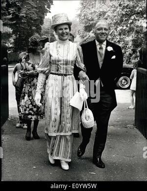 7. Juli 1971 - heiratet Schauspieler Richard Attenborough Sohn Schauspielerin; Micheal Attenborough, heiratete der - Stockfoto