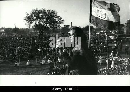 3. März 1972 - hat Premierminister Frau Indira Gandhi Hunderte von Wahlveranstaltungen in Indien vor kurzem zur - Stockfoto