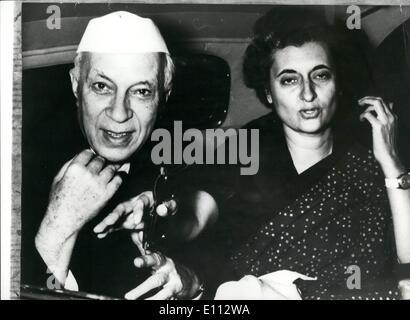 6. Juni 1975 - Mrs Gandhi der indische Premierminister von korrupten Wahlen Praktiken verurteilt. Der Premierminister - Stockfoto