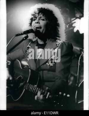 Sept. 09, 1977 - MARC BOLAN bei Autounfall getötet. Rock-Sänger MARC BOLAN, 29, war heute früh bei einem Autounfall - Stockfoto