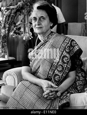 Porträt von Premierministerin INDIRA GANDHI - Stockfoto