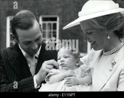7. Juli 1979 - Taufe von Lord Frederick Windsor.: die Taufe fand heute in der königlichen Kapelle, St James Palace - Stockfoto
