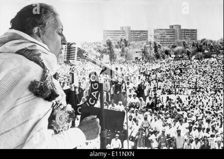 Premierministerin INDIRA GANDHI eine Rede - Stockfoto