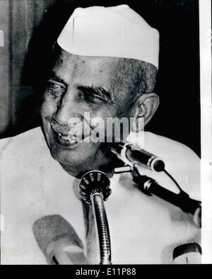 8. August 1979 - Indiens Premierminister Charan Singh tritt zurück: der indische Premierminister Charan Singh, der - Stockfoto
