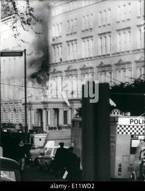 5. Mai 1980 - SAS Kader iranischen Botschaft zu stürmen und die Geiseln frei: die sechs Tagen Belagerung von der - Stockfoto