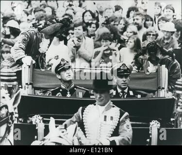 7. Juli 1981 - The Royal Wedding: Heute Prinz Charles und Lady Diana heiratete in St. Pauls Cathedral. Foto zeigt Prinz Charles und sein Bruder Prinz Andrew auf dem Weg nach St. Pauls. Stockfoto