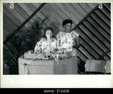 7. Juli 1985 - Konferenz über United Frauen zehn Jahre trifft sich in Nairobi: The World Conference markiert das - Stockfoto