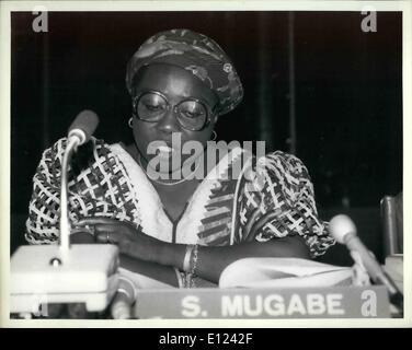 7. Juli 1985 - Konferenz über die Dekade der Vereinten Nationen Frauen trifft sich in Nairobi: The World Conference - Stockfoto