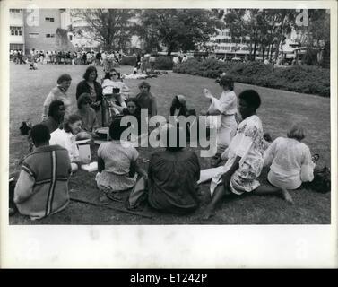 7. Juli 1985 - Konferenz über Dekade der Vereinten Nationen Frauen trifft sich in Nairobe: Nairobe, Kenia, der Weltkonferenz - Stockfoto