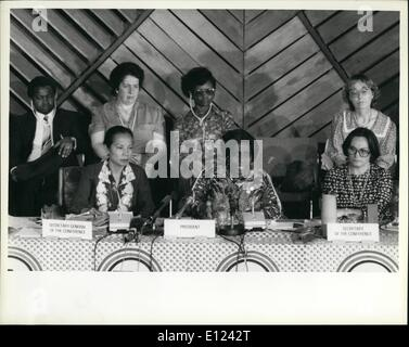 7. Juli 1985 - Konferenz über die Dekade der Vereinten Nationen Frauen trifft sich in Nairobi: die Welt Konferenz - Stockfoto