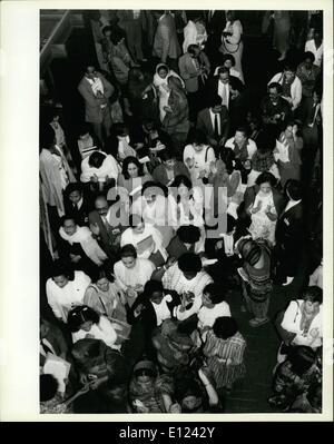 7. Juli 1985 - trifft Konferenz über die Dekade der Vereinten Nationen Frauen sich in Nairobi; Die Welt Konferenz - Stockfoto