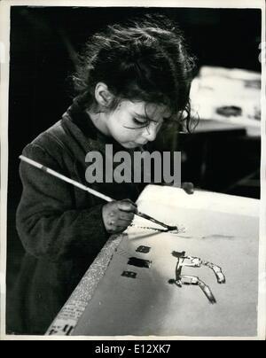 26. Februar 2012 - ein Künstler der Zukunft... JUGENDLICHE BESUCHEN DIE ONE-PENNY-MALKLASSE. Nun, der Sommer über - Stockfoto