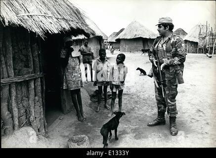 26. Februar 2012 - Rhodesien: Ein weißer Südafrikaner, die Rhodesian Armee freiwillig beigetreten eine à ¢ â '¬Ëœprotected - Stockfoto