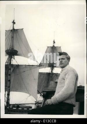 29. Februar 2012 - Blätter Mayflower II für Reise nach Amerika. Blinder Passagier gefunden auf Board.: '' Mayflower - Stockfoto