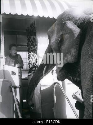 29. Februar 2012 - Dreharbeiten Szenen für '' Zirkus Blut ''; Academy Award-Gewinner Sterne Joan Crawfod und Hollywood - Stockfoto