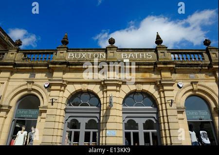 Buxton Spa Bäder Derbyshire England UK - Stockfoto