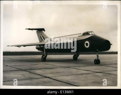 22. März 2012 - neue britische '' verstellbaren Flügel '' Forschung Flugzeug.: Großbritanniens neueste gepfeilten - Stockfoto