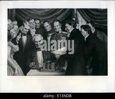 22. März 2012 - Morse sendet ersten Telegramm: Samuel F. Morse, Erfinder des ersten praktischen Telegraphen ist - Stockfoto