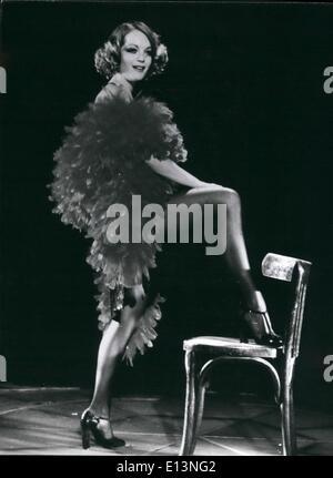 22. März 2012 - neuer Film mit Romy Schneider in Westdeutschland gezeigt werden: als erfolglose Schauspielerin. - Stockfoto