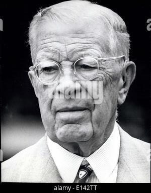 4. April 2012 - Gustaf VI Adolf, König von Schweden 90, 11. November 1972 - Stockfoto