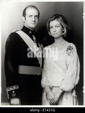 4. April 2012 - Weihnachtslieder ihre Majestäten König Juan I und Königin Sofia von Spanien. - Stockfoto