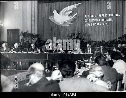 4. April 2012 fand - internationalen europäischen Friedenskonferenz - A-Konferenz von Ausschüssen des europäischen - Stockfoto