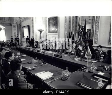 4. April 2012 - Konferenz der Militärberater Seato: Die Eröffnungsfeier der Seato militärische Berater Konferenz - Stockfoto