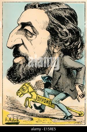 Alfred Joseph Naquet, 1834-1916, französischer Chemiker und Politiker, politische Karikatur, 1882, von Alphonse - Stockfoto