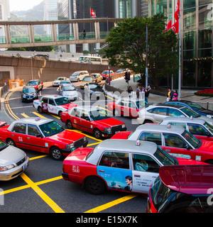 Stau in Hong Kong - Stockfoto