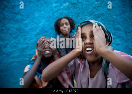 Kinder in Harar, Äthiopien. - Stockfoto