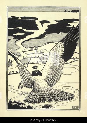 """J. B. Clark Illustration aus """"The überraschende Abenteuer des Baron Münchhausen"""" von Rudoph Raspe veröffentlicht 1895."""