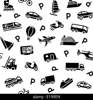 Nahtlose Transport Hintergrundmuster, Vektor-Design-element - Stockfoto