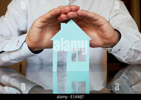 Immobilien-Versicherungen-Konzept Stockfoto