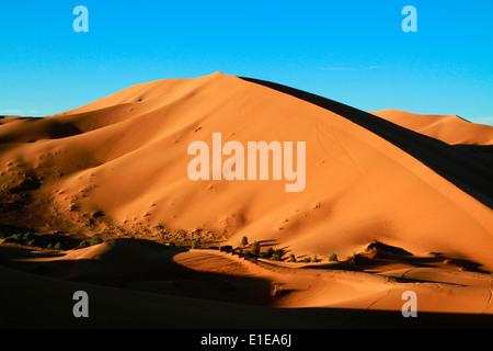 Erg Chebbi Sanddünen in der Sahara Wüste in der Nähe von Merzouga, Marokko