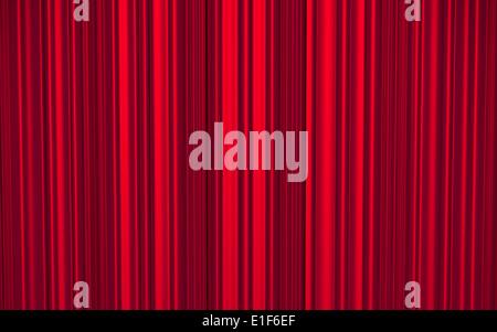 Roter Vorhang für Theater oder Kino Bühne - 3d illustration - Stockfoto